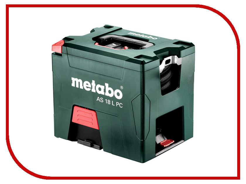 Пылесос Metabo AS18LPC602021000 промышленный пылесос metabo asa 25 l pc 602014000