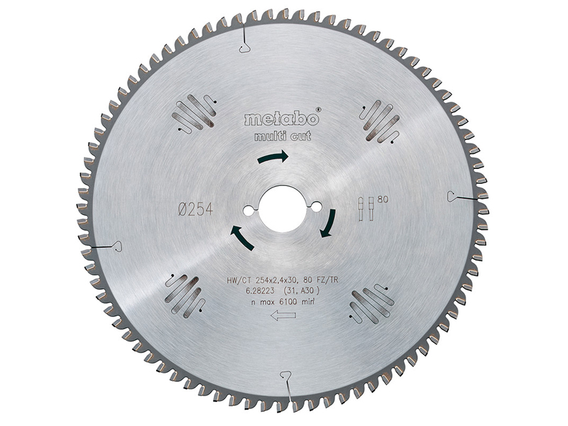 Диск Metabo HW/CT 190x30 36WZ пильный по ламинату, дереву, пластику, цветному металлу, мдф, дсп 628075000