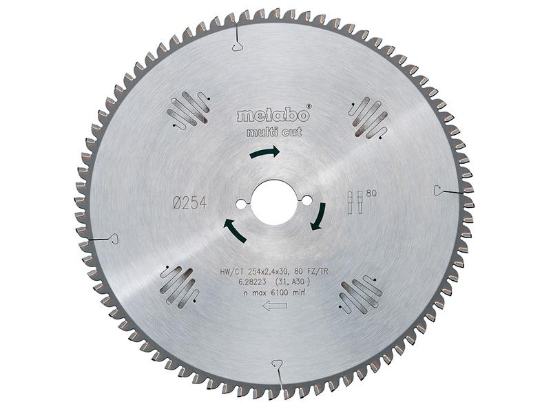Диск Metabo HW/CT 210x30 60WZ пильный по ламинату, дереву, цветному металлу, пластику, мдф, дсп 628079000