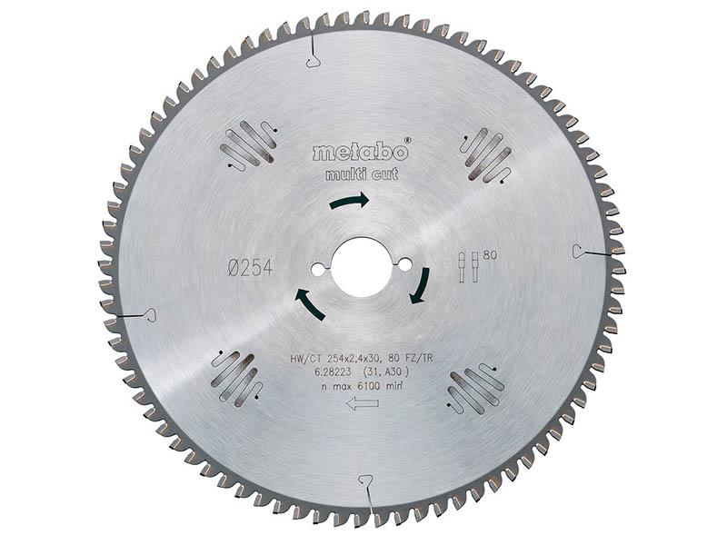 Диск Metabo HW/CT 250x30 80WZ пильный по ламинату, дереву, цветному металлу, пластику, мдф, дсп 628087000
