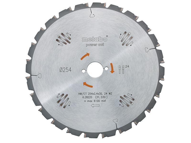 Диск Metabo HW/CT 254x30 24WZ пильный по дереву с гвоздями 628220000