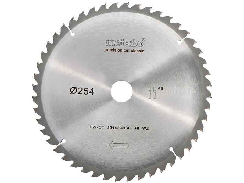 Диск Metabo HW/CT 254x30 48WZ пильный по дереву, мдф, дсп 628061000