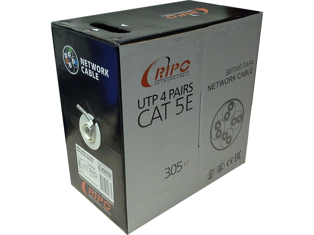 Сетевой кабель Ripo UTP4 cat.5e 24AWG CCA 001-112002/010335