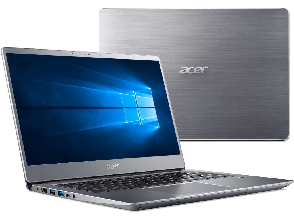 Ноутбук Acer Swift 3 SF314-56-33SJ Silver NX.H4CER.006 (Intel Core i3-8145U 2.1 GHz/8192Mb/128Gb SSD/No ODD/Intel HD Graphics/Wi-Fi/Bluetooth/Cam/14.0/1920x1080/Windows 10 64-bit)
