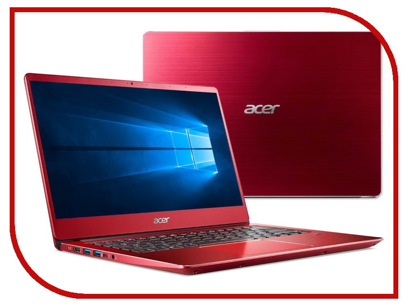 Ноутбук Acer Swift 3 SF314-56-77Y6 Red NX.H4JER.006 (Intel Core i7-8565U 1.8 GHz/8192Mb/256Gb SSD/No ODD/Intel HD Graphics/Wi-Fi/Bluetooth/Cam/14.0/1920x1080/Windows 10 64-bit) цена