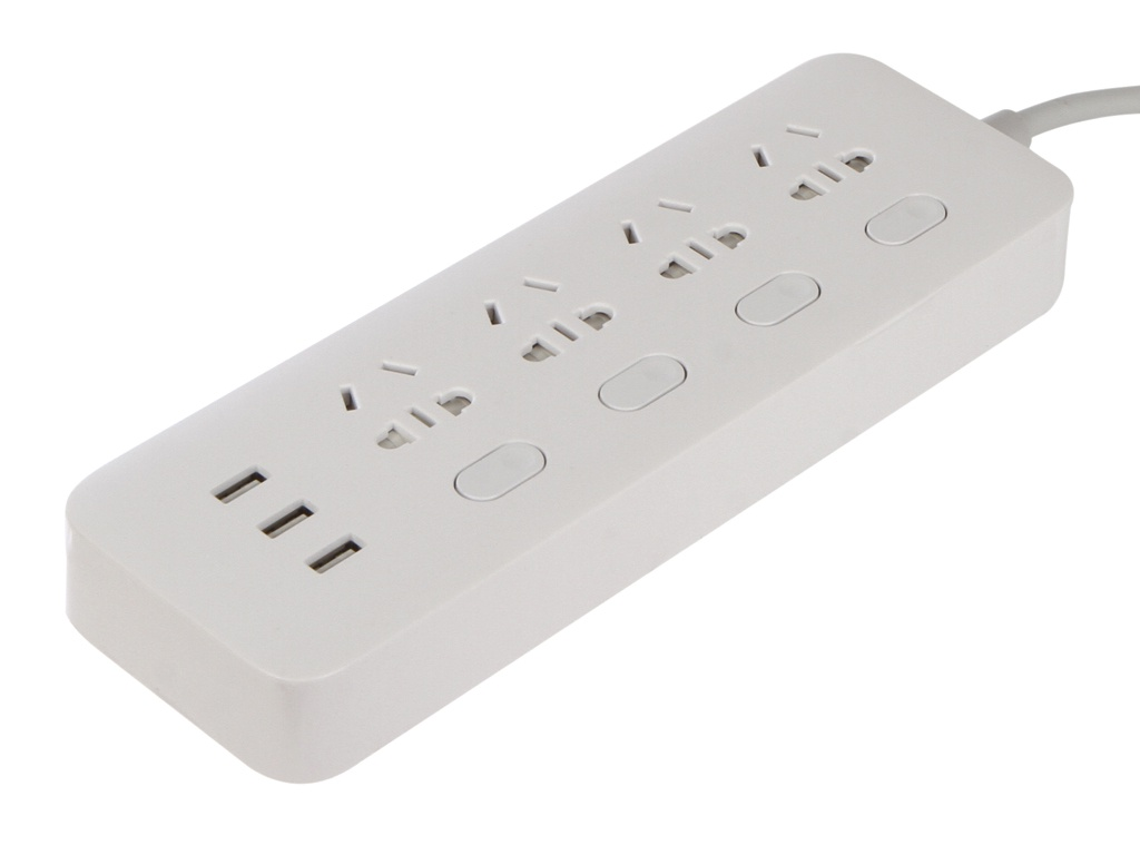 Удлинитель Xiaomi Mi Power Strip Sockets 4 USB 3 White NRB4023CN