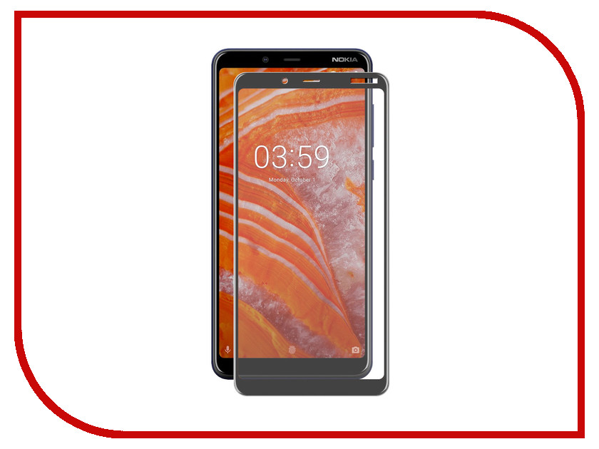 Аксессуар Защитное стекло для Nokia 3.1 Mobius Plus 3D Full Cover Black 4232-247 ap80g90b to 247