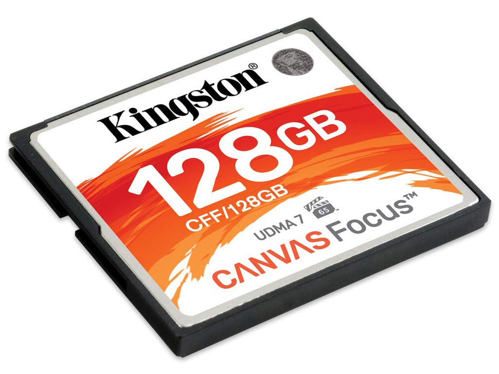 Карта памяти 128Gb - Kingston Compact Flash Canvas Focus CFF/128GB