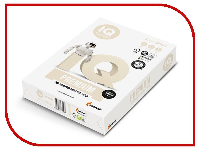 Фото - Бумага IQ Premium A4 80g/m2 500 листов A+ биография a4 80g цветная копировальная бумага красная единственная упаковка 500 сумка