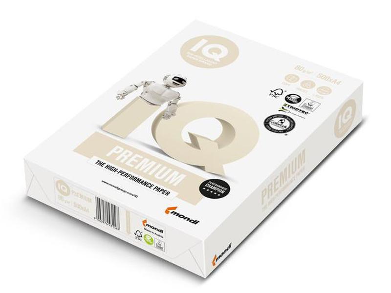 Бумага IQ Premium A4 80g/m2 500 листов A+