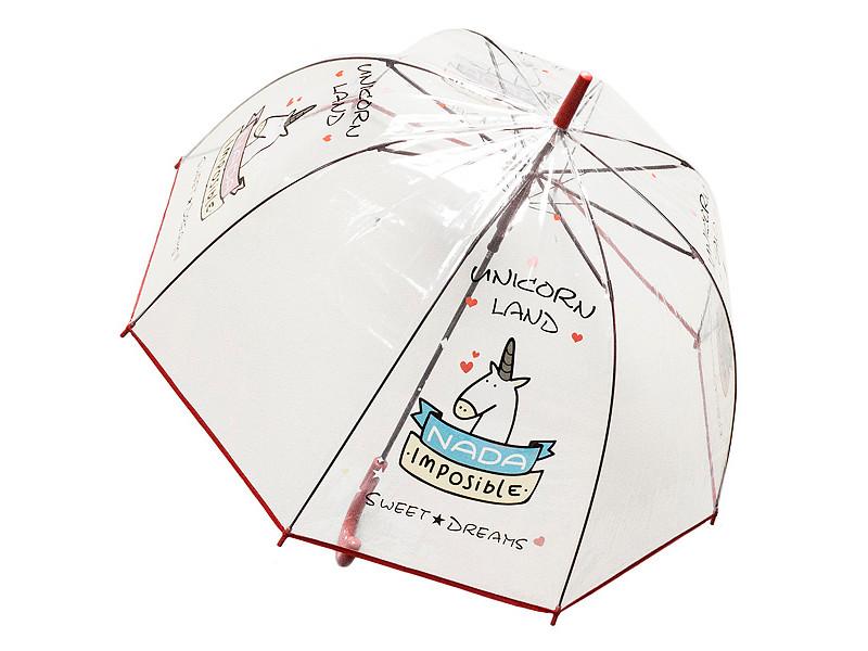 Зонт Эврика Единорог №4 Red 99111