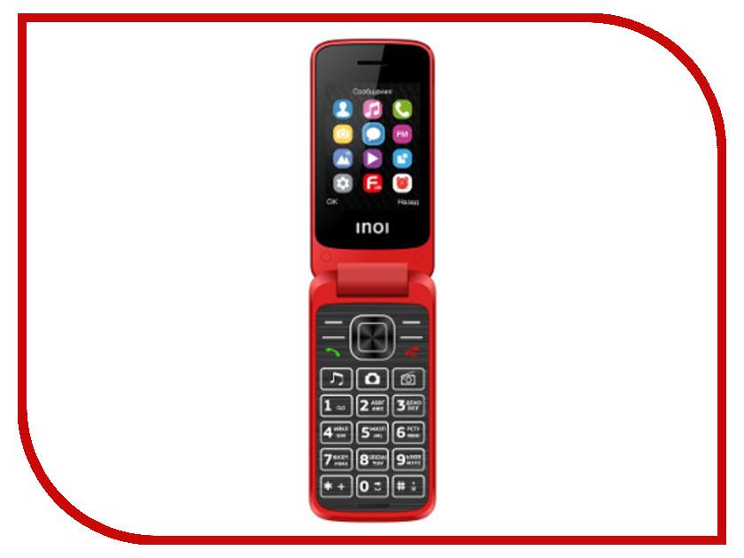 Сотовый телефон INOI 245R Red сотовый телефон philips s386 navy