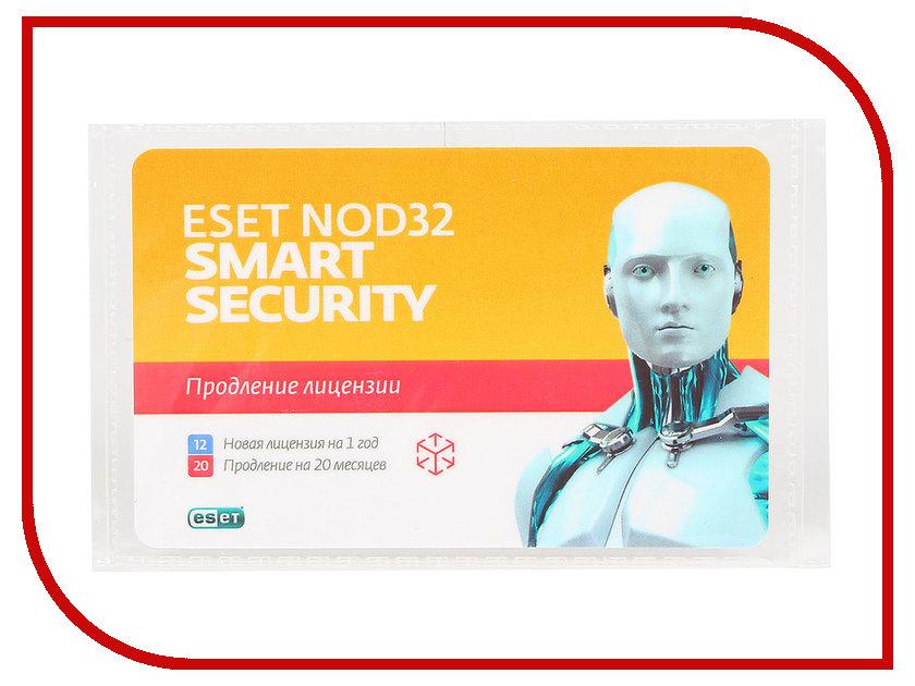 Программное обеспечение ESET NOD32 Smart Security - продление лицензии на 20 месяцев или новая на 1 год на 3PC NOD32-ESS-2012RN(CARD)-1-1 коробка продления eset nod32 smart security продление 20 месяцев или новая 1 год 3пк nod32 ess 2012rn box 1 1