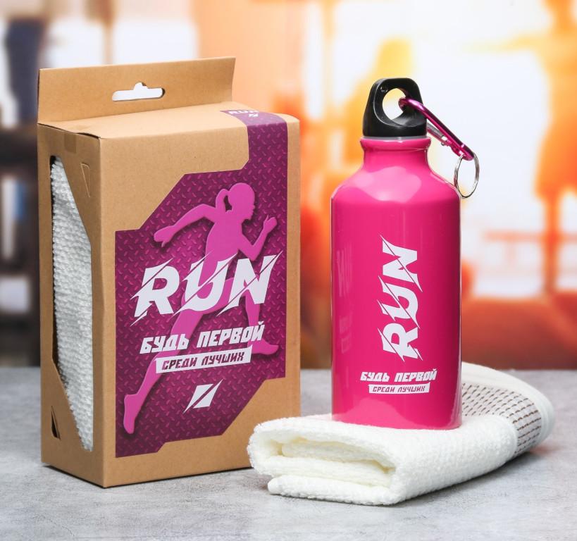 Набор СИМА-ЛЕНД Run - бутылка для воды 400ml + полотенце 3601868