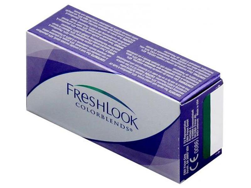 Контактные линзы Alcon FreshLook ColorBlends 2 (2 линзы / 8.6 / 0) Brilliant Blue контактные линзы alcon air optix aqua 6 шт r 8 6 d 08 00