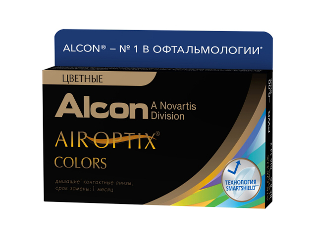 Контактные линзы Alcon Air Optix Colors 2 (2 линзы / 8.6 / 0) Green контактные линзы alcon air optix aqua 6 шт r 8 6 d 05 50