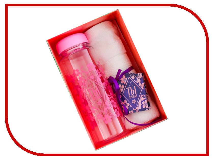 Набор СИМА-ЛЕНД Ты лучшая - бутылка для воды + полотенце 2588979 набор для пикника сима ленд волк 160036