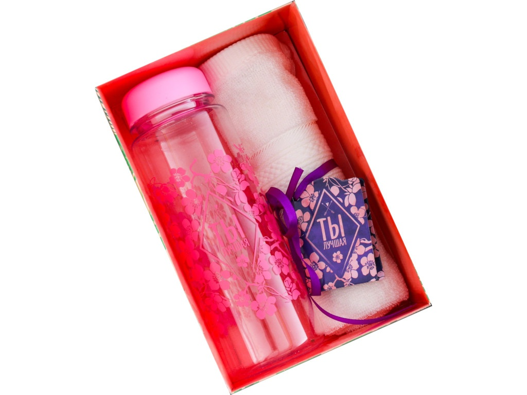 Набор СИМА-ЛЕНД Ты лучшая - бутылка для воды + полотенце 2588979