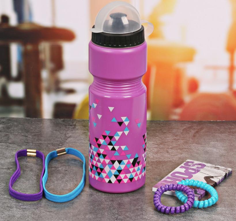 Набор СИМА-ЛЕНД Треугольники - бутылка для воды 800ml + повязка волос 2шт и блокнот 2588937