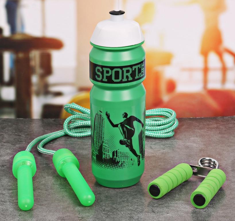 Набор СИМА-ЛЕНД Sport Is Life - бутылка для воды 900ml + скакалка и эспандер 2588950