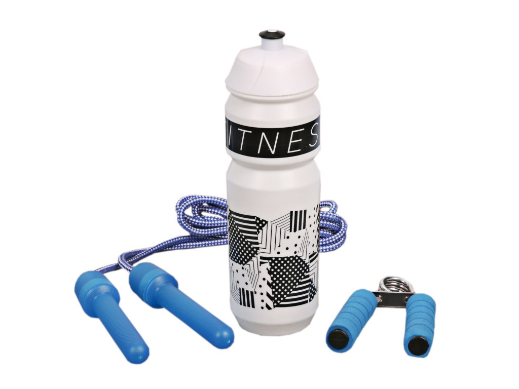 Набор СИМА-ЛЕНД Fitness - бутылка для воды 900ml + скакалка и эспандер 2588954