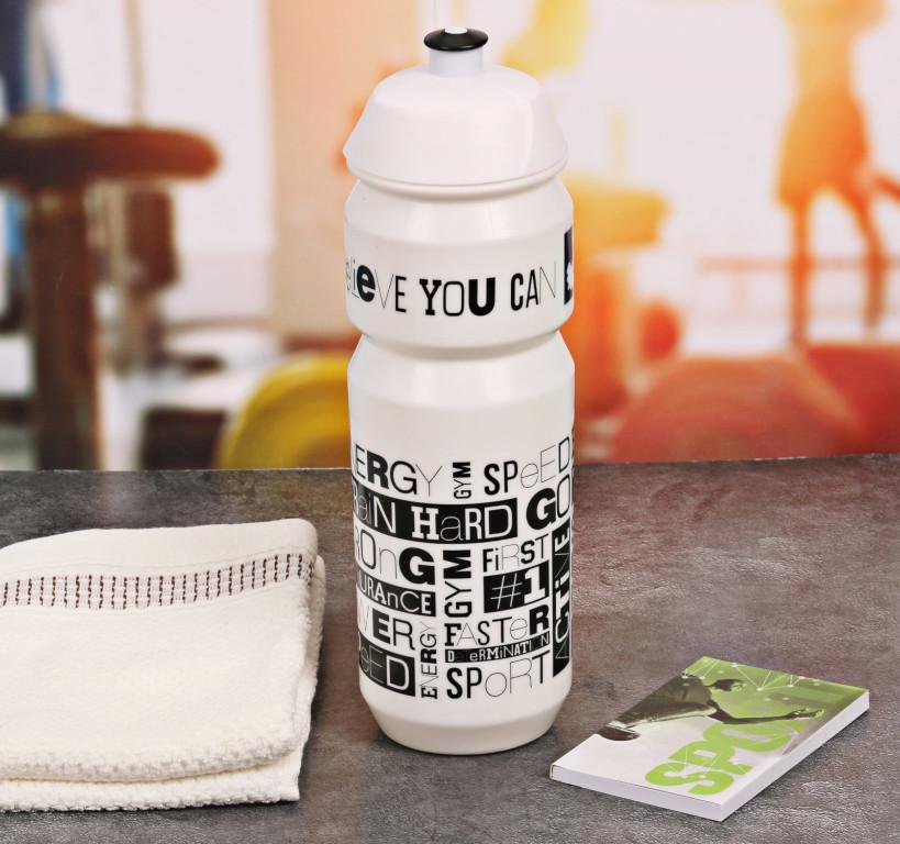 цена Набор СИМА-ЛЕНД Train Hard - бутылка для воды 800ml + полотенце и блокнот 2588943 онлайн в 2017 году
