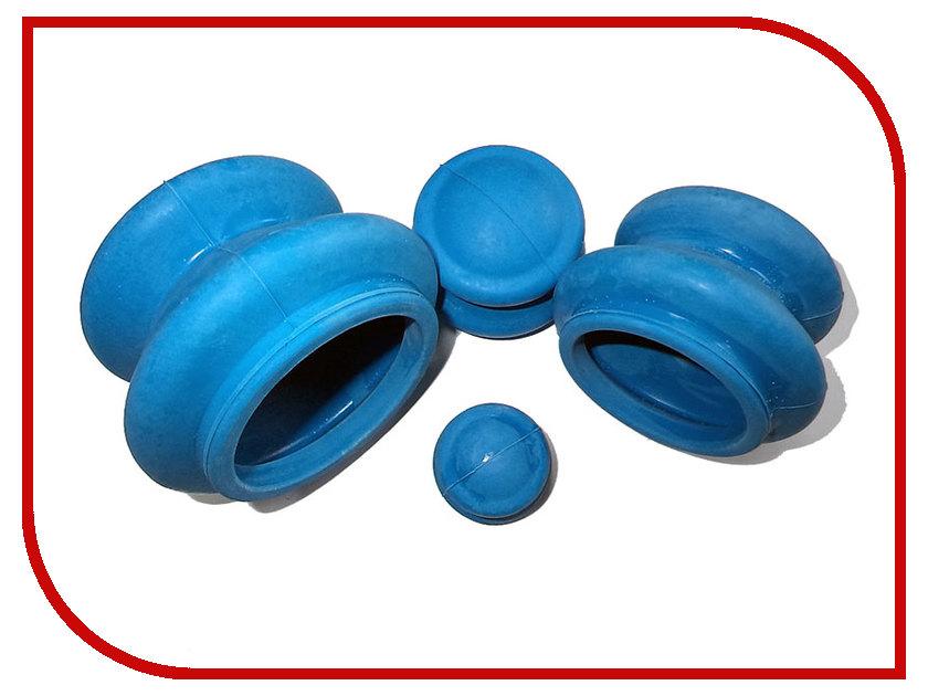 Купить Массажер Банки для вакуумного массажа Экотех из антиаллергенной резины 4шт 3057 Blue