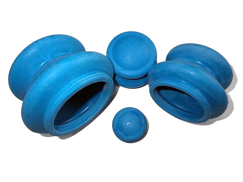 Массажер Банки для вакуумного массажа Экотех из антиаллергенной резины 4шт 3057 Blue