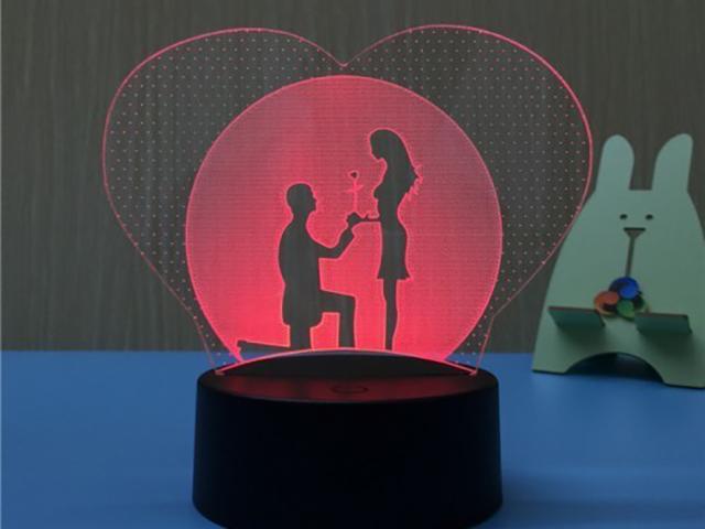 3D лампа Veila Влюбленные 1051