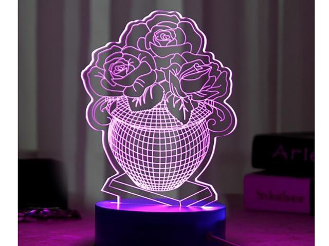3D лампа Veila Ваза с цветами 1048