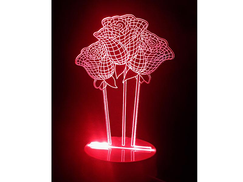 3D лампа Veila Розы 1045
