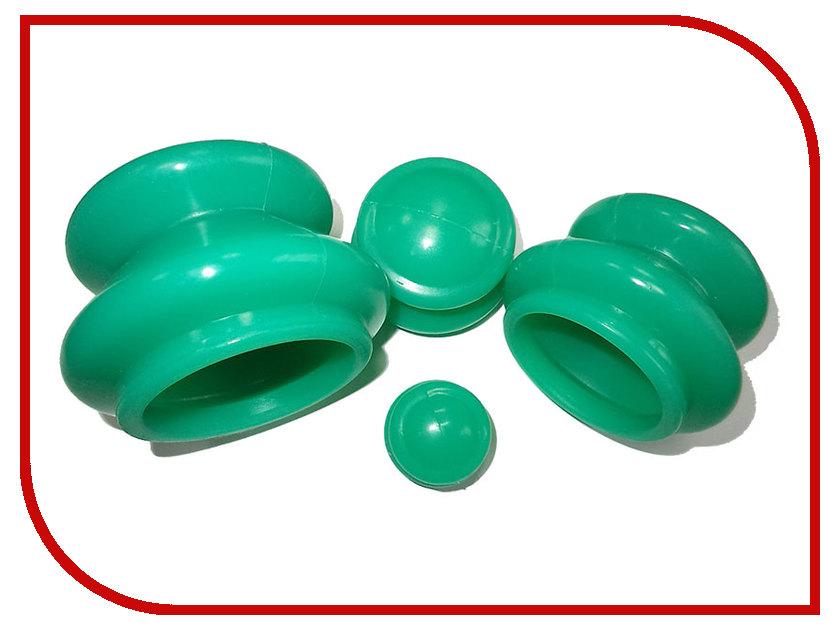 Купить Массажер Банки для вакуумного массажа Экотех из силикона 4шт 3056 Green
