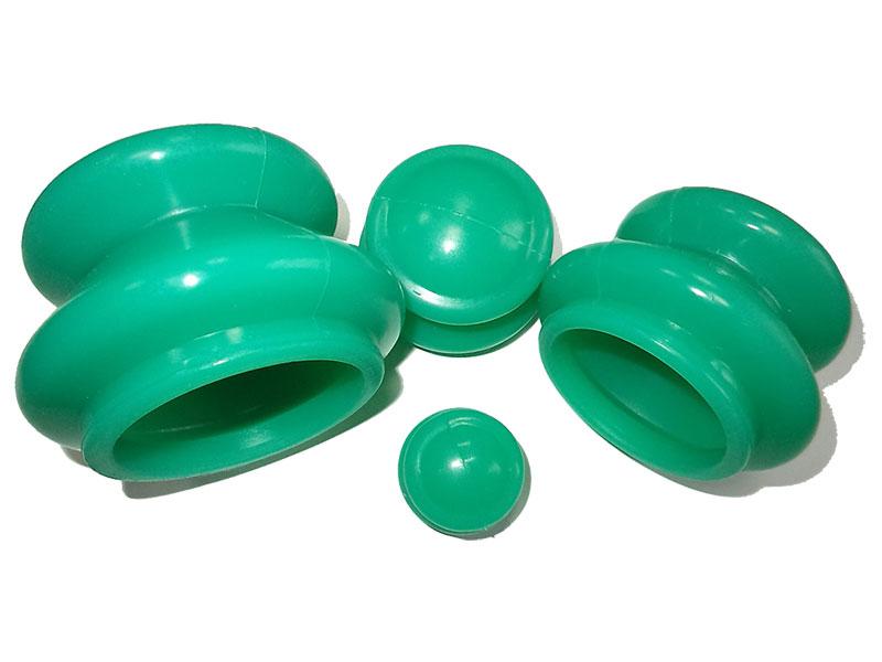 Массажер Банки для вакуумного массажа Экотех из силикона 4шт 3056 Green