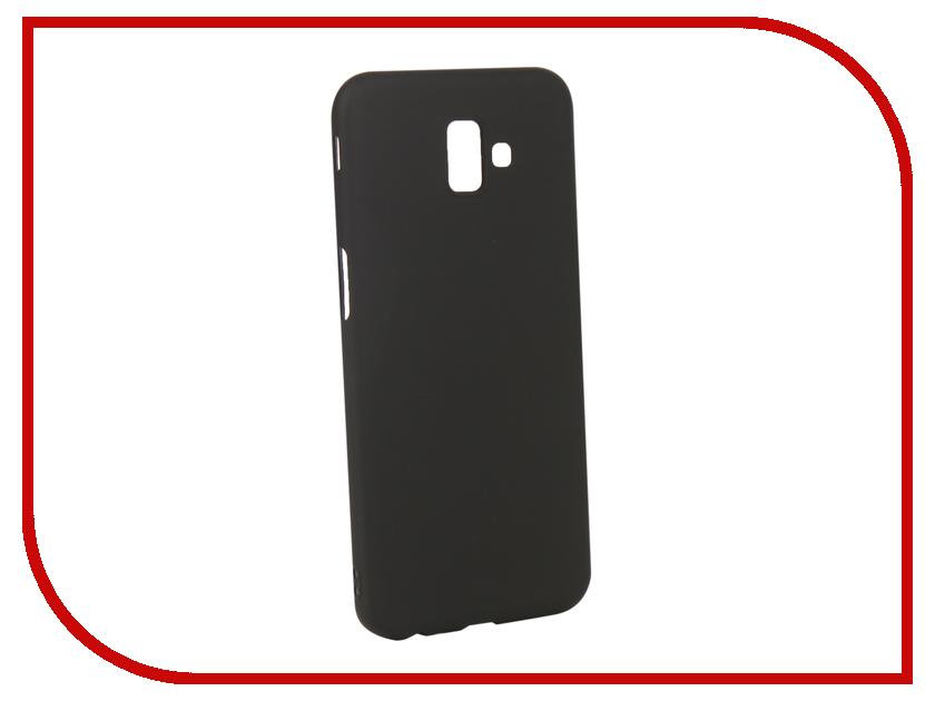 Аксессуар Чехол для Samsung Galaxy J6 Plus 2018 Gurdini Soft Touch Silicone Black 907968 аксессуар чехол gurdini soft touch silicone для apple airpods white 906287