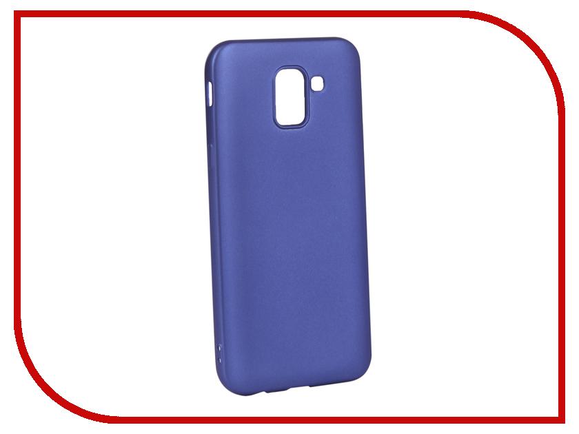 Аксессуар Чехол для Samsung Galaxy J6 2018 Gurdini Soft Touch Silicone Blue 907967 аксессуар gurdini ipod shuffle 110030