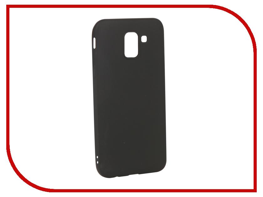 Аксессуар Чехол для Samsung Galaxy J6 2018 Gurdini Soft Touch Silicone Black 907966 аксессуар чехол для samsung galaxy j6 2018 gurdini soft touch silicone blue 907967