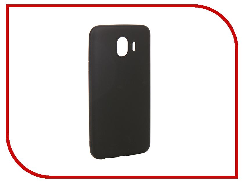 Аксессуар Чехол для Samsung Galaxy J4 2018 Gurdini Soft Touch Silicone Black 907964 аксессуар чехол samsung j3 2017 j330f zibelino clear view black zcv sam j330 blk