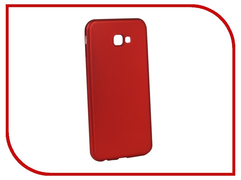 Аксессуар Чехол для Samsung Galaxy J4 Plus Gurdini Soft Touch Silicone Red 907960