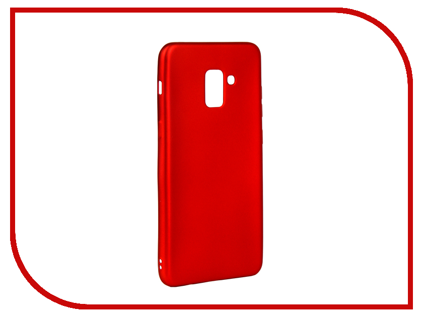 Аксессуар Чехол для Samsung Galaxy A8 Plus 2018 Gurdini Soft Touch Silicone Red 907959