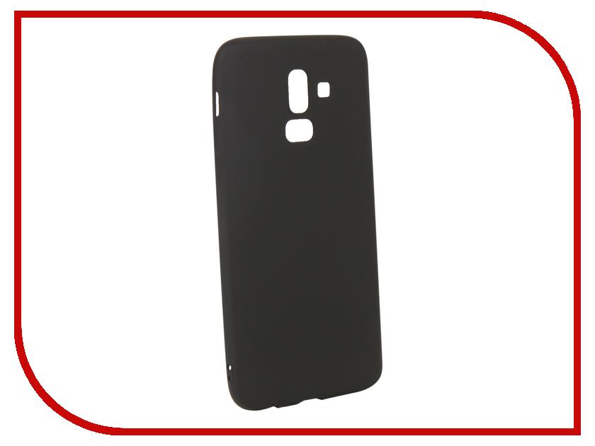 Аксессуар Чехол для Samsung Galaxy J8 2018 Gurdini Soft Touch Silicone Black 907522 аксессуар чехол samsung j3 2017 j330f zibelino clear view black zcv sam j330 blk