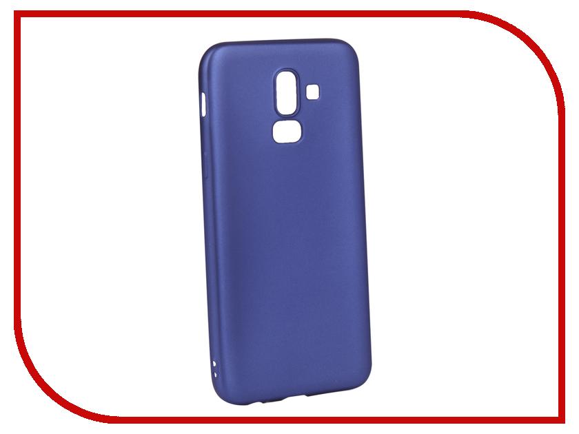 Аксессуар Чехол для Samsung Galaxy J8 2018 Gurdini Soft Touch Silicone Blue 907520 аксессуар чехол для samsung galaxy a6 j8 2018 caseguru soft touch 0 5mm blue cobalt 103335