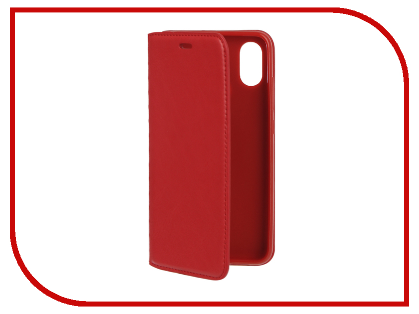 Аксессуар Чехол для Xiaomi Mi 8 Gurdini Silicone Magnetic Red 907950 аксессуар стекло противоударное для xiaomi mi 5s plus gurdini 2d full screen 0 26mm black
