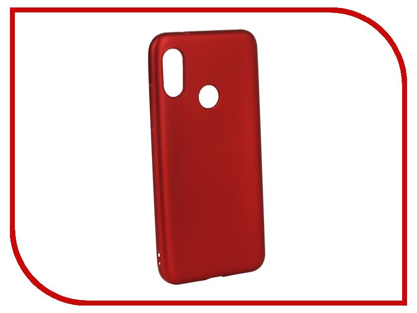 Аксессуар Чехол для Xiaomi Redmi 6 Pro Gurdini Soft Touch Silicone Red 907497 аксессуар чехол для huawei honor 7a pro gurdini premium silicone red 906540