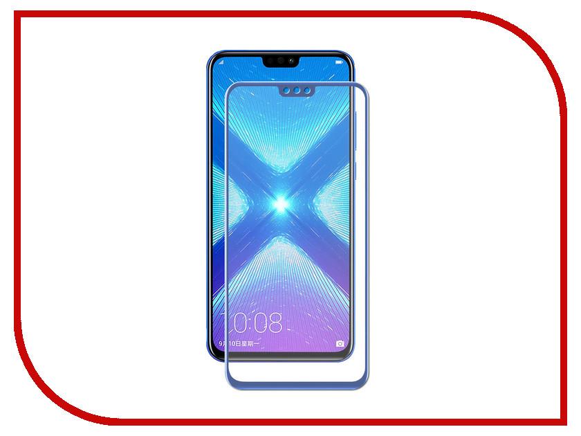 Аксессуар Стекло противоударное для Honor 8X Gurdini 2.5D Full Screen Blue 907954 аксессуар стекло противоударное для apple iphone x gurdini 2d full screen 0 22mm matte black 905592