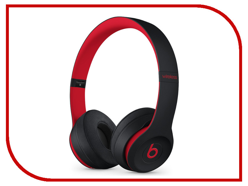 Beats Solo3 Wireless On-Ear Headphones Decade Collection Defiant Black-Red MRQC2EE/A beats studio 3 wireless red mqd02ze a