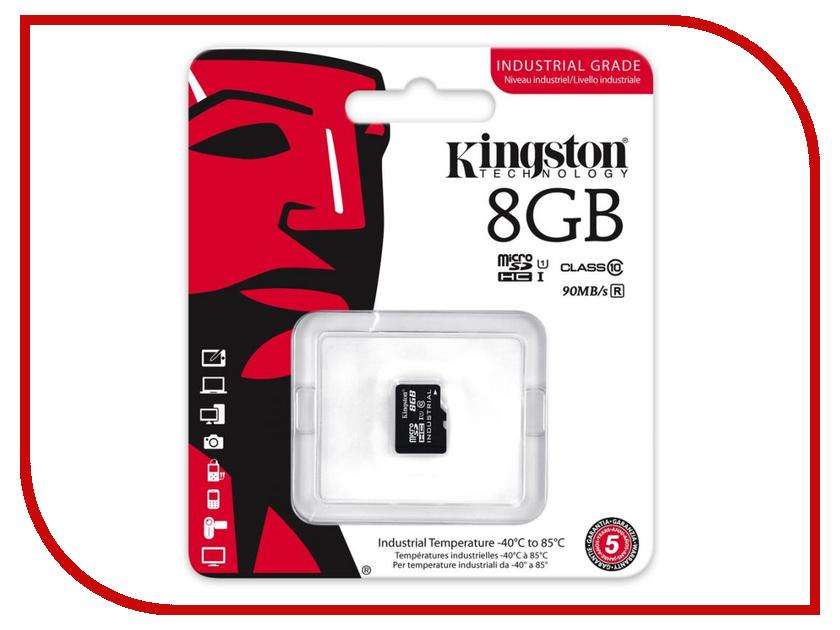 Карта памяти 8GB - Kingston Industrial Temperature MicroSD UHS-I SDCIT/8GBSP 0 1300 cetigrade industrial thermocouple k type temperature sensor 0 1300c temperature probe