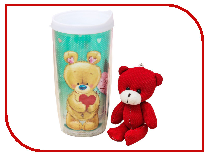 Купить Набор Командор Love you - термостакан 450ml + мишка 3253292