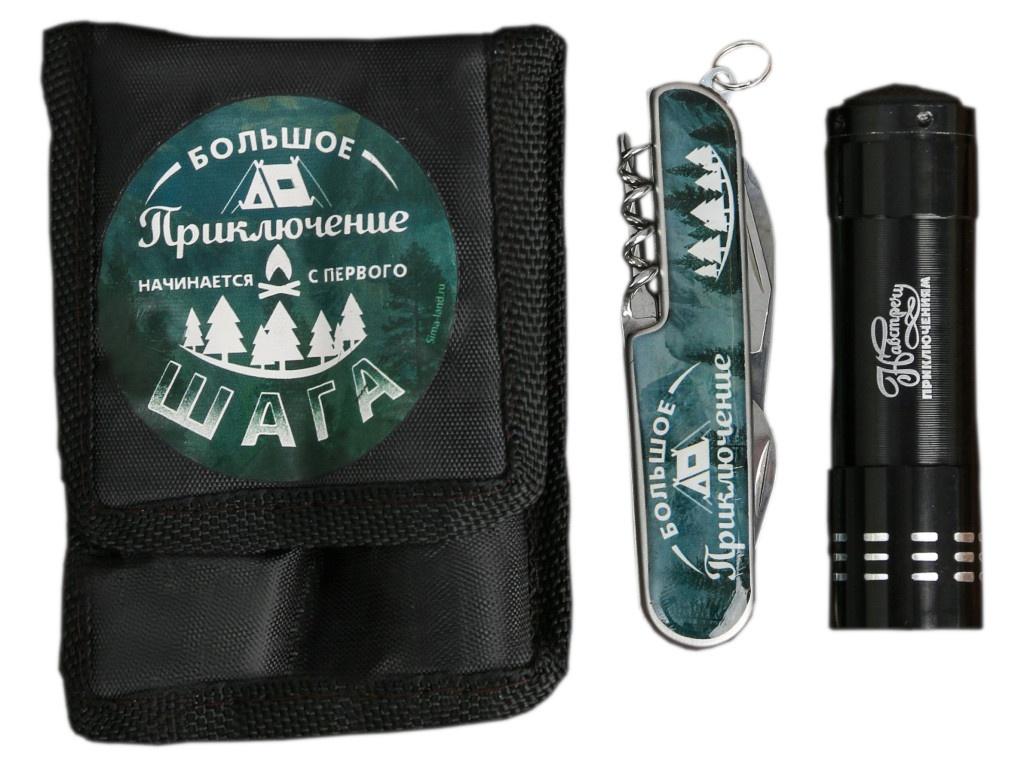 Набор Командор Большое приключение - фонарик и мультитул 3244396