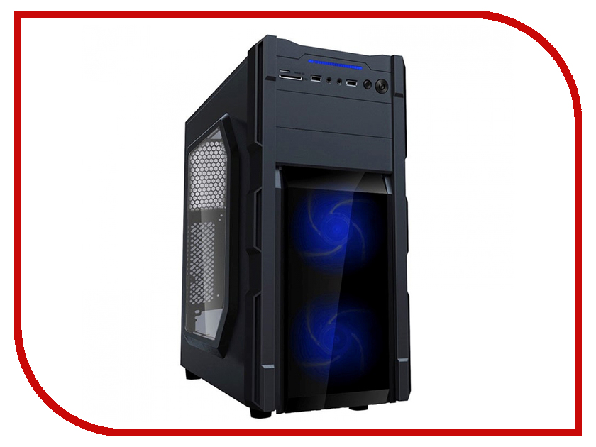 Корпус GameMax G535-CR Black-Blue корпус gamemax g535 cr black