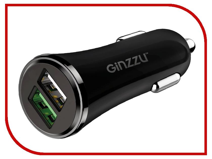 Фото - Зарядное устройство Ginzzu 2xUSB 2.4A GA-4502UB автомобильное зарядное устройство ginzzu ga 4502ub азу 5в 2 4a qc3 0 5v 9v 12v